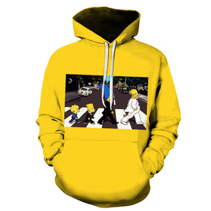 The Simpsons Hoodie - Cartoon Simpson Pullover Hoodie CSSG112 - cosplaysos