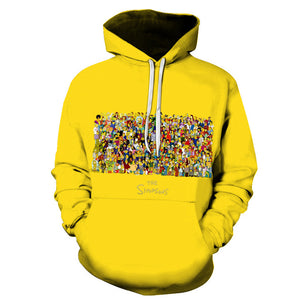 The Simpsons Hoodie - Cartoon Simpson Pullover Hoodie CSSG113 - cosplaysos