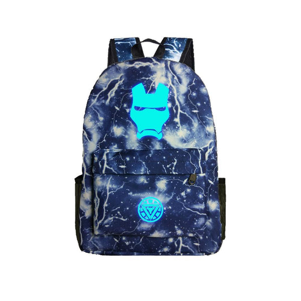 "Avengers Ironman Marvel 17"" Luminous Backpack CSSO104 - cosplaysos"