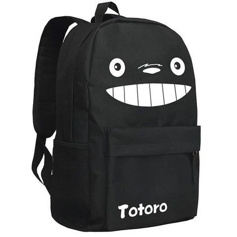 Totoro  Image Pattern Black/Camo Backpack Bag CSSO070