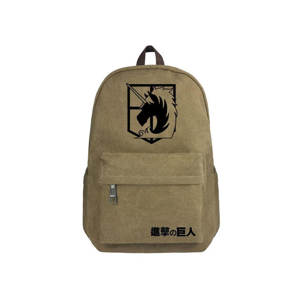 "Japanese Anime Attack On Titan Canvas 17"" Bag Backpack CSSO128 - cosplaysos"