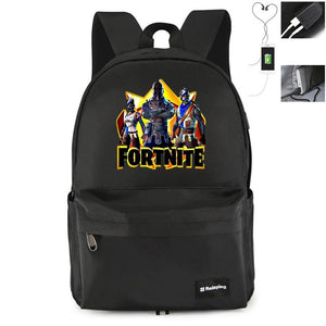 Game Fortnite Printing USB Student Backpack CSSO087 - cosplaysos