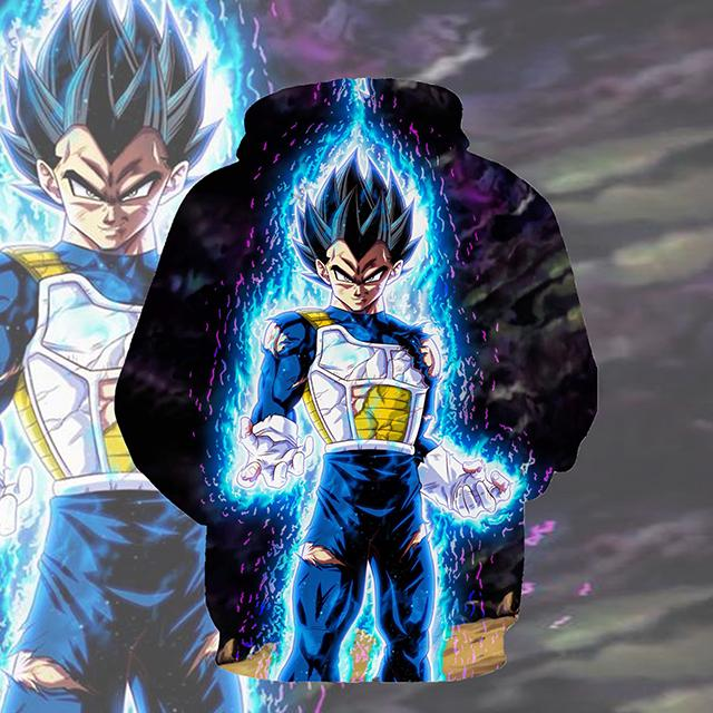 Dragon Ball Z Ultra Instincts Vegeta Pullover Hoodie CSOS023 - cosplaysos