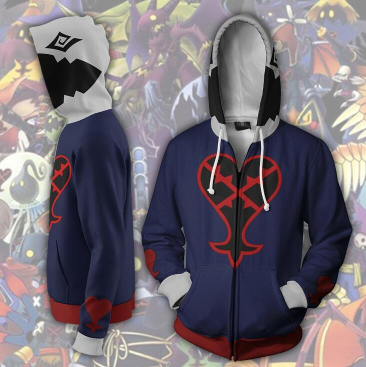 Kingdom Hearts Hoodie - Heartless Zip Up Hoodie CSOS314 - cosplaysos