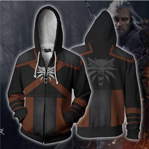 The Witcher 3 Hoodie - Wild Hunt Zip Up Hoodie CSOS536 - cosplaysos