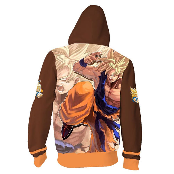 Dragon Ball Z Goku Zip Up Hoodie CSOS620 - cosplaysos