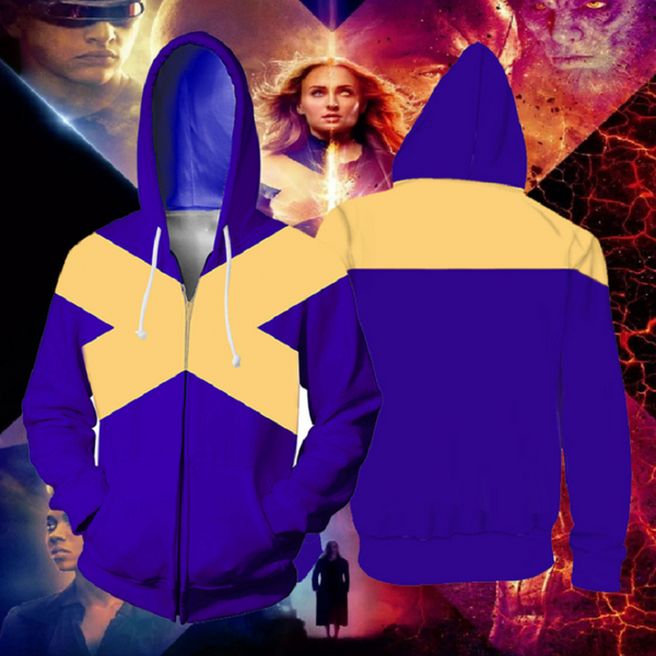 X-Men: Dark Phoenix Zip Up Hoodie CSOS701 - cosplaysos