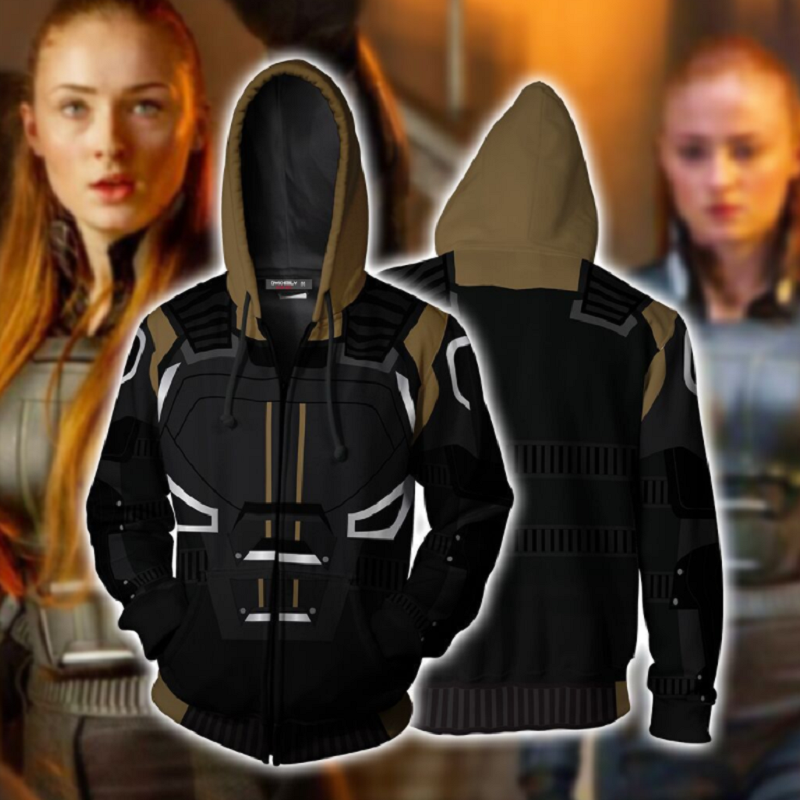 X-Men: Dark Phoenix Zip Up Hoodie CSOS703 - cosplaysos