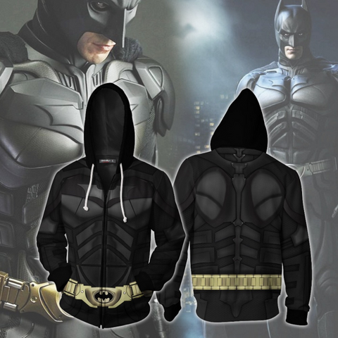 Batman Zip Up Hoodie CSOS818 - cosplaysos