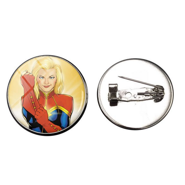 Captain Marvel Glass Gems Lapel Pin Set - 6-Pack CSOS850 - cosplaysos