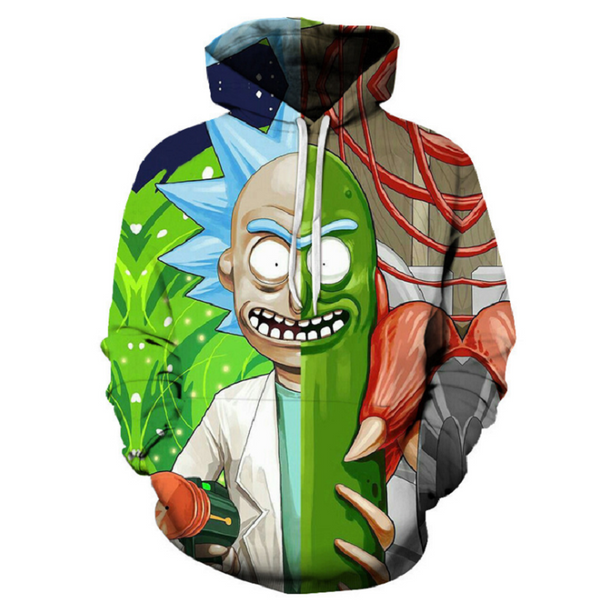 Rick and Morty Pullover Hoodie CSOS858 - cosplaysos