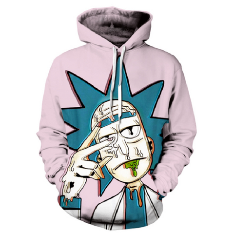 Rick and Morty Pullover Hoodie CSOS860 - cosplaysos