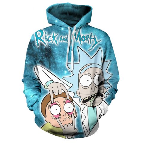 Rick and Morty Pullover Hoodie CSOS862 - cosplaysos