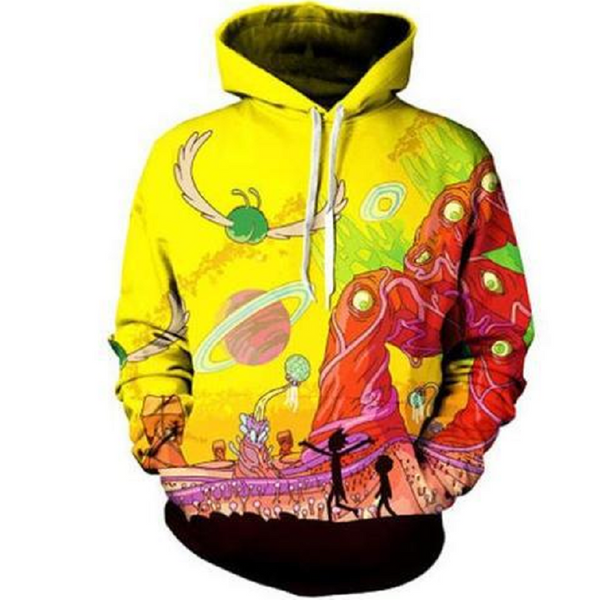 Rick and Morty Pullover Hoodie CSOS868 - cosplaysos