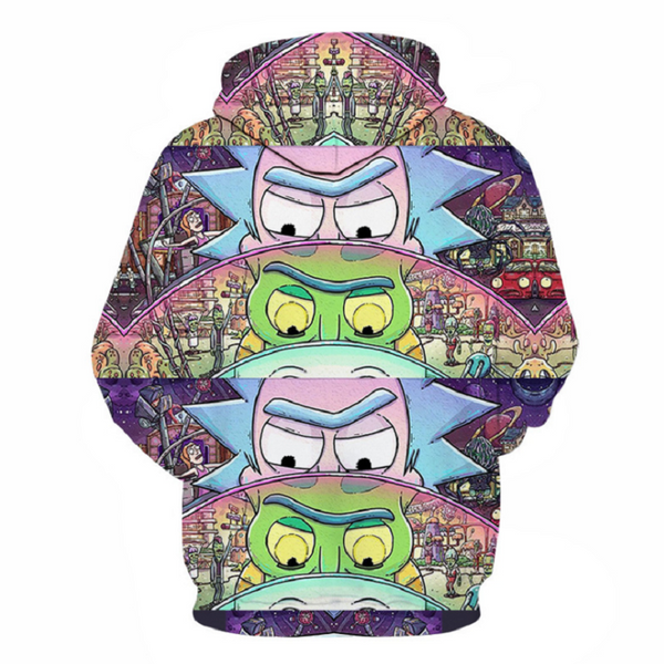 Rick and Morty Pullover Hoodie CSOS869 - cosplaysos