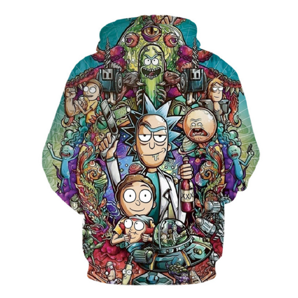 Rick and Morty Pullover Hoodie CSOS872 - cosplaysos