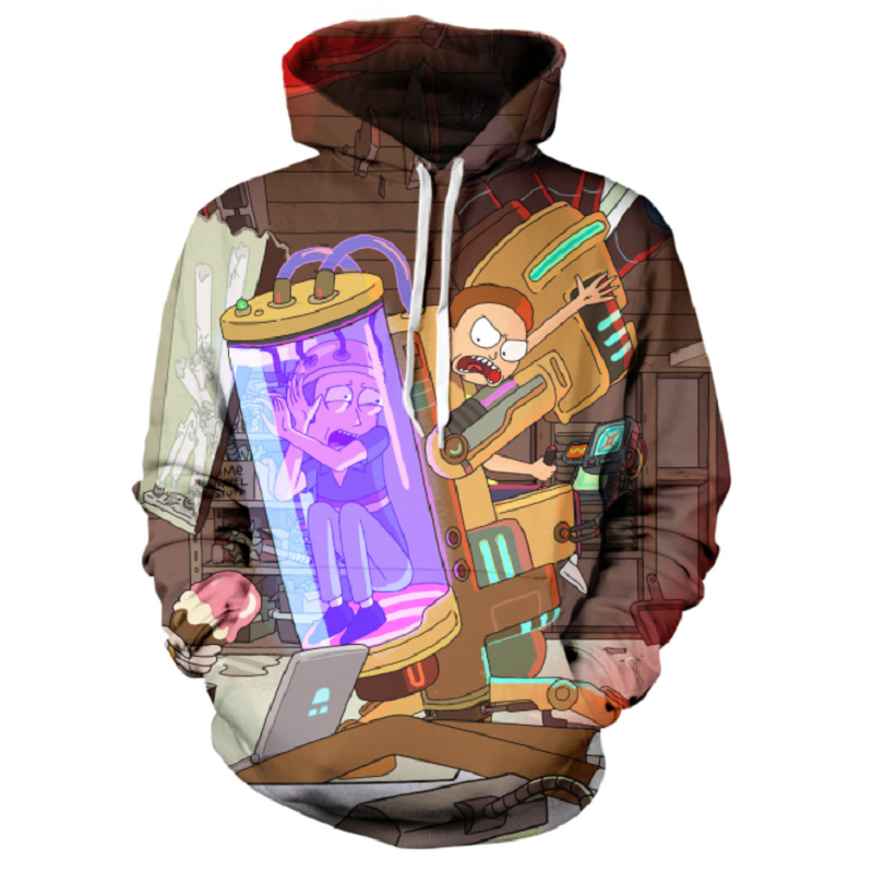 Rick and Morty Pullover Hoodie CSOS876 - cosplaysos