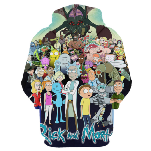 Rick and Morty Pullover Hoodie CSOS877 - cosplaysos