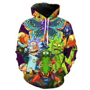 Rick and Morty Pullover Hoodie CSOS882 - cosplaysos