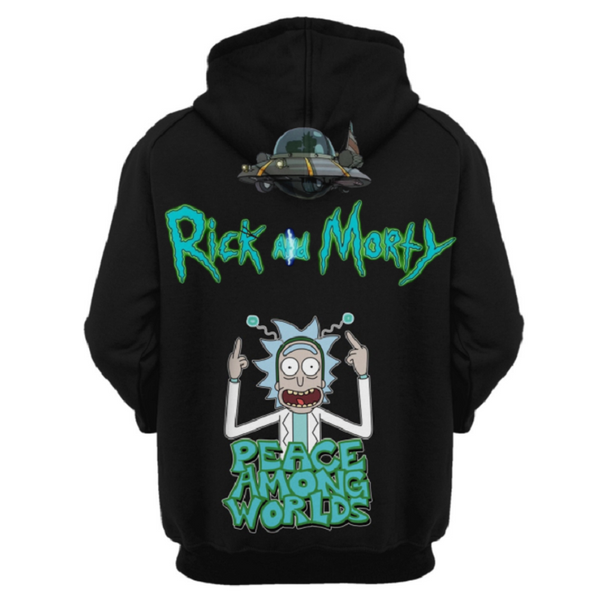 Rick and Morty Pullover Hoodie CSOS885 - cosplaysos