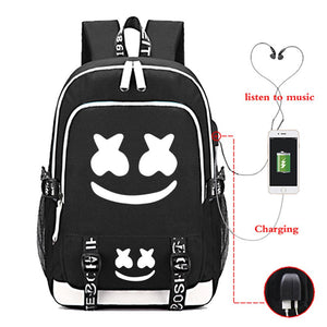 USB Charging Marshmello Backpack CSSO158 - cosplaysos