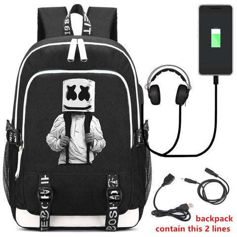 DJ Marshmello Backpack CSSO213 - cosplaysos