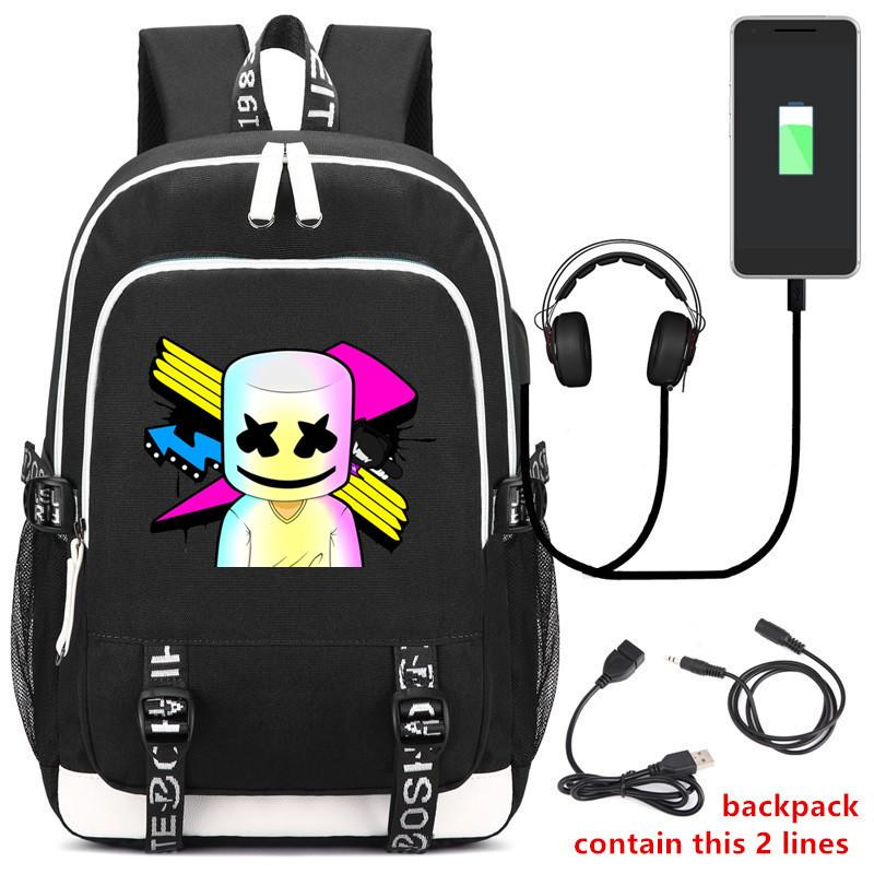 DJ Marshmello Travel School  Backpack CSSO214 - cosplaysos