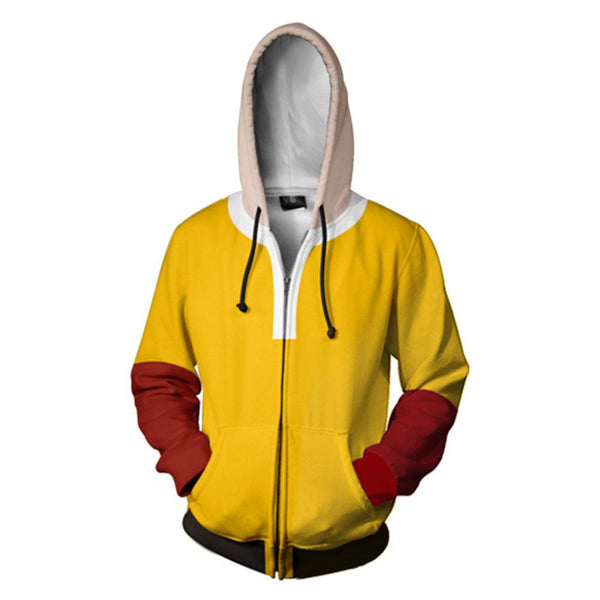 One Punch Man Hoodies - Japanese Anime Zip Up Hooded Sweatshirt CSSO047 - cosplaysos