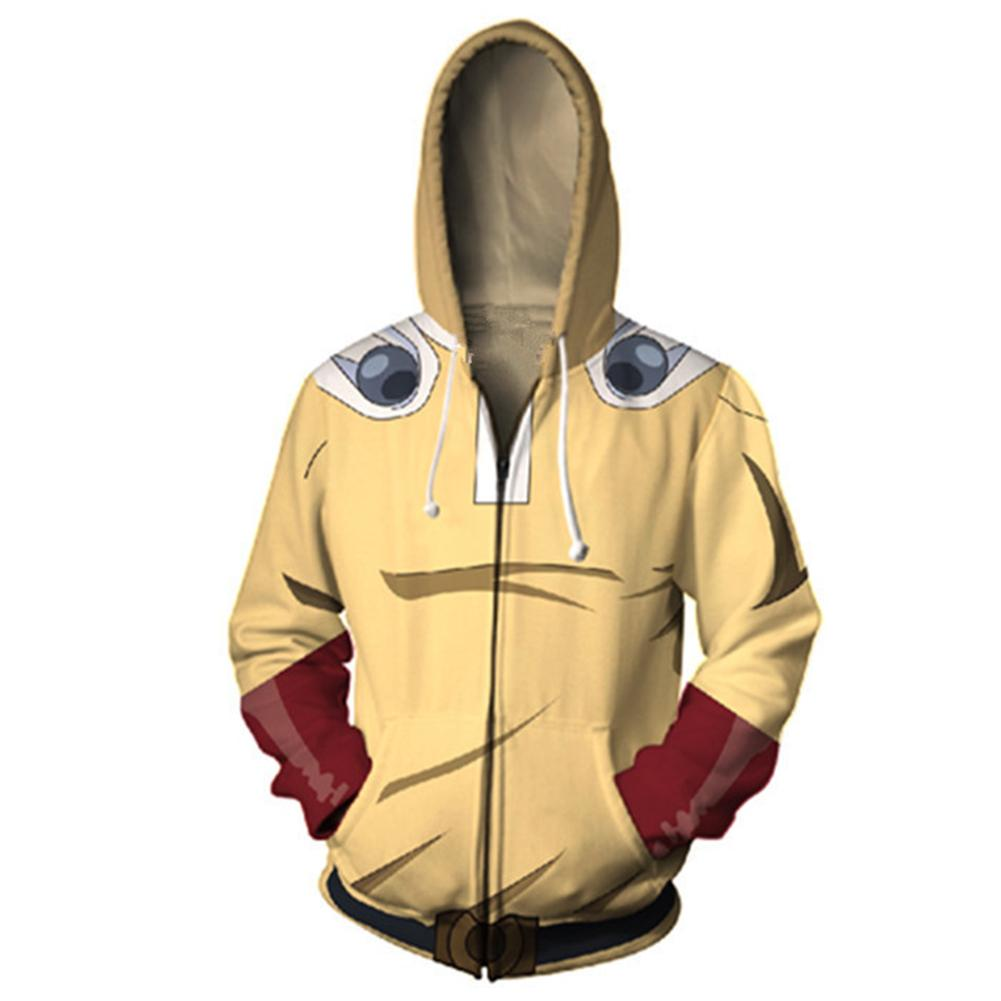 One Punch Man Hoodies - Japanese Anime Zip Up Hooded Sweatshirt CSSO049