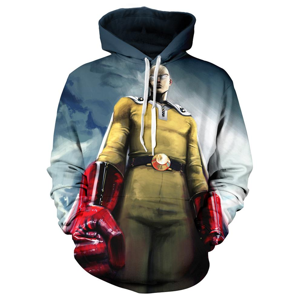 One Punch Man Hoodies - Anime Pullover Hooded Sweatshirt CSSO054 - cosplaysos