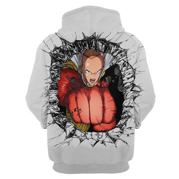 One Punch Man Hoodies - Saitama Pullover Hooded Sweatshirt CSSO055 - cosplaysos