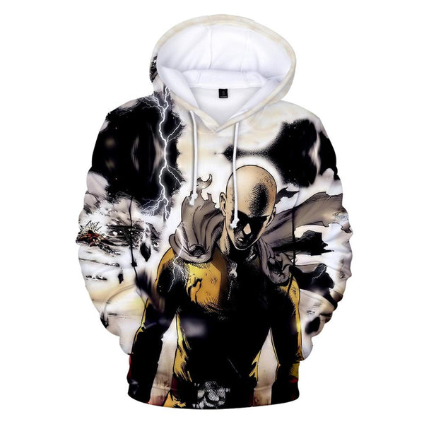 One Punch Man Hoodies - Saitama Drawstring Pullover Hoodie CSSO040 - cosplaysos