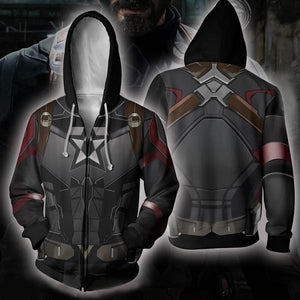 The Avengers Endgame Captain America Zip Up Hoodie CSP808 - cosplaysos
