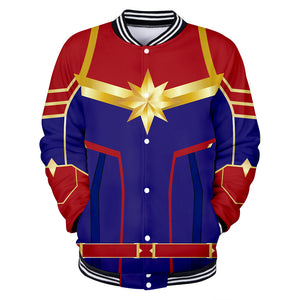 Captain Marvel Jacket - Carol Danvers Baseball Jacket CSOS907 - cosplaysos