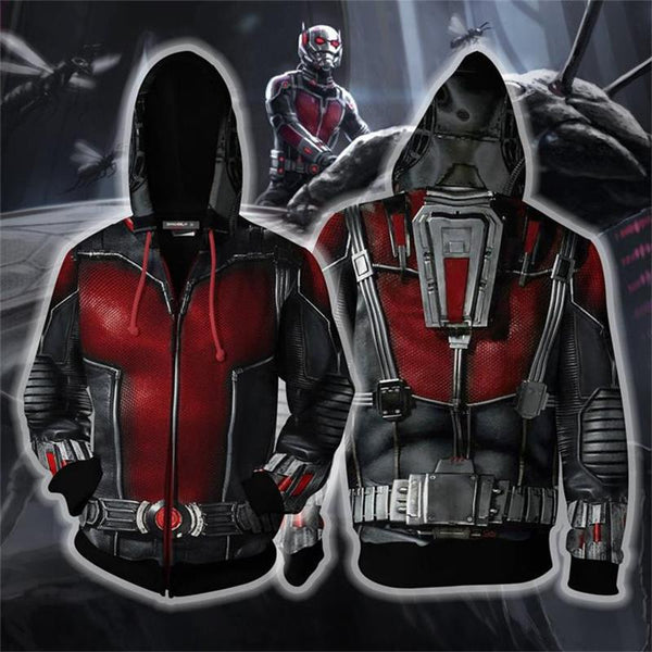 The Avengers Endgame Ant-Man Zip Up Hoodie CSP802 - cosplaysos
