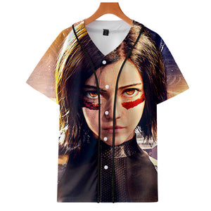 AlitaT-Shirt - Battle Angel Graphic Button Down T-Shirt CSOS995 - cosplaysos