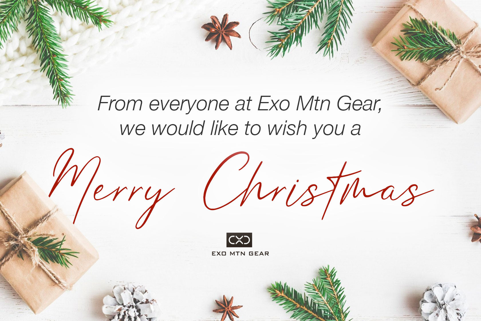 Merry Christmas from Exo Mtn Gear