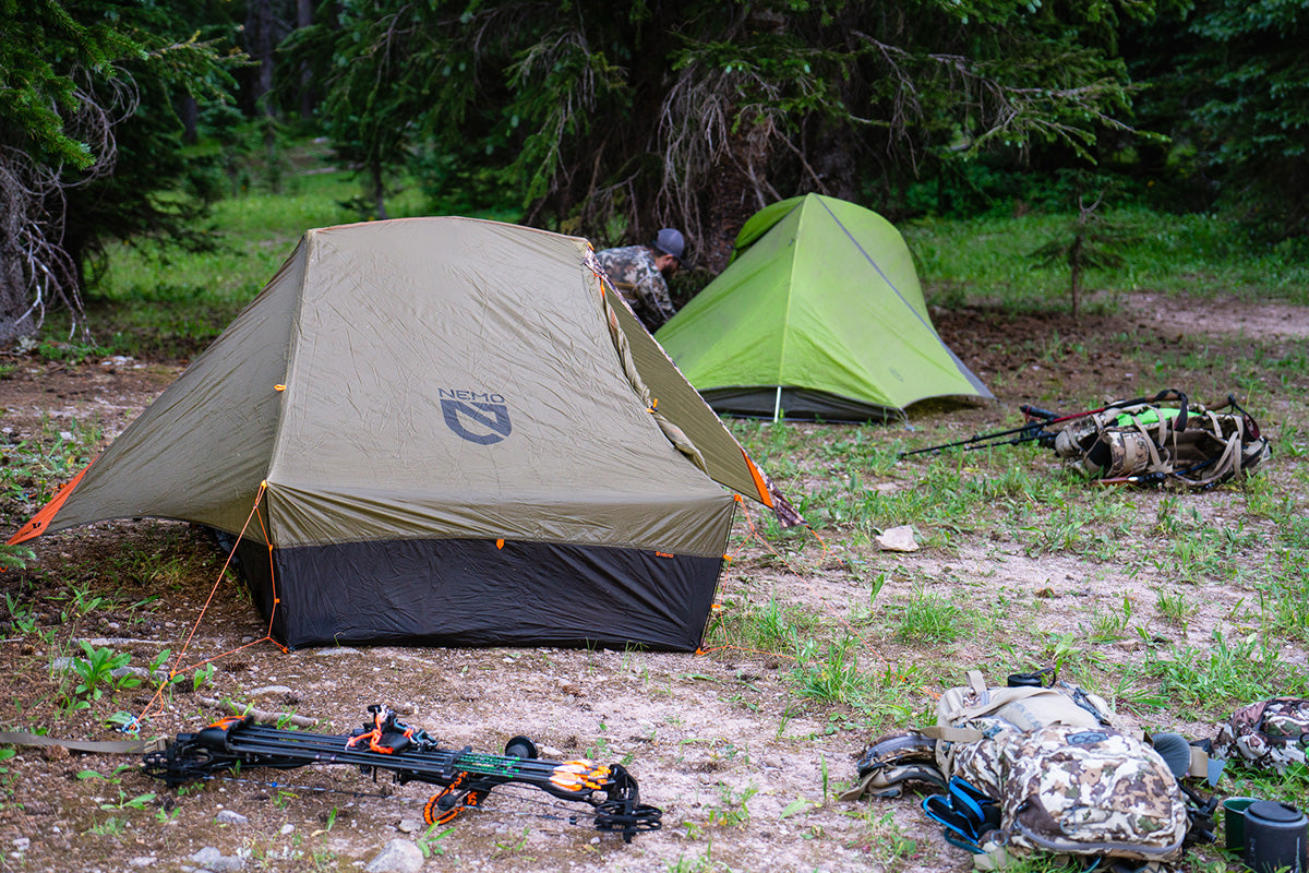 Spike Camp in the Backcountry