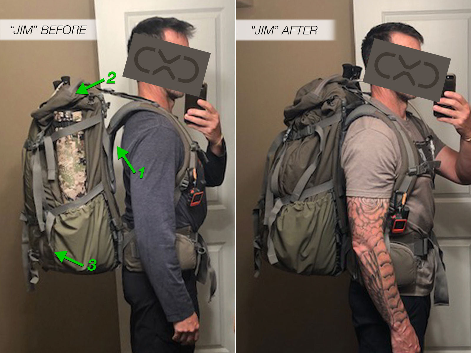 Jim's Pack Fitting Photos