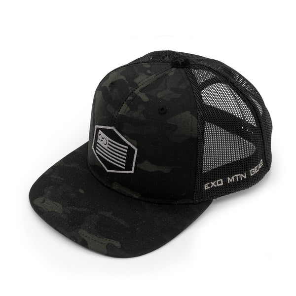 Exo Multicam Black Flag Hat