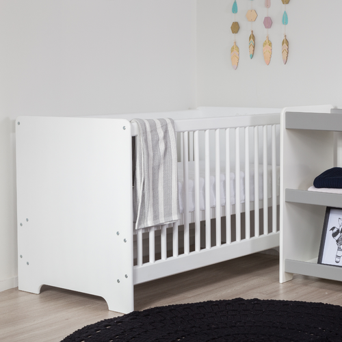 White | Contemporary Cot