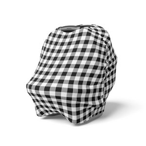 Black Gingham | 5 in 1 Multi Use Cover