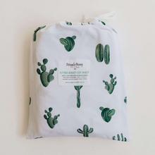 Load image into Gallery viewer, Cactus | Fitted Cot Sheet