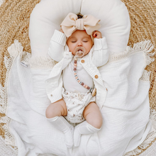 Load image into Gallery viewer, Cream + Natural | Fringe Swaddle
