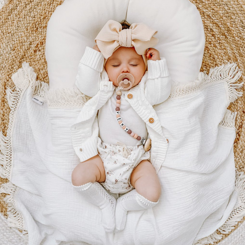 Cream + Natural | Fringe Swaddle
