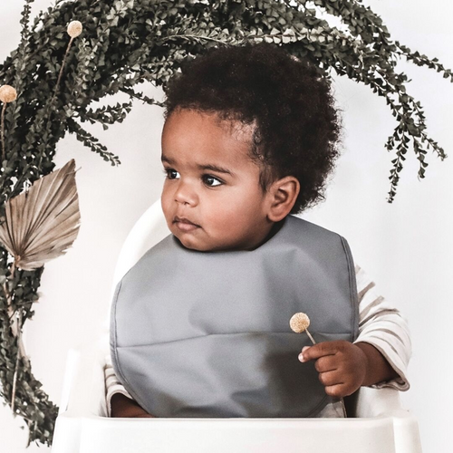 Grey | Waterproof Snuggle Bib