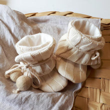 Load image into Gallery viewer, Natural | Organic Pom Pom Booties