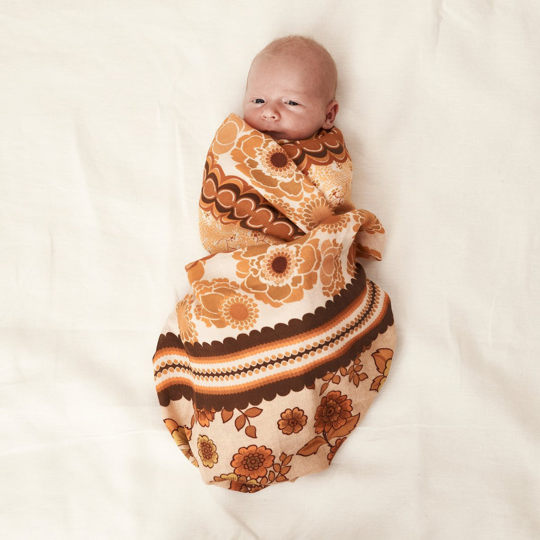 Joni | Bamboo + Organic Cotton Swaddle