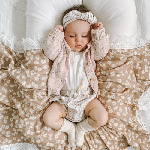 Mini Daisy | Fringe Swaddle