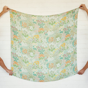 Mint Meadow | Bamboo + Organic Cotton Swaddle